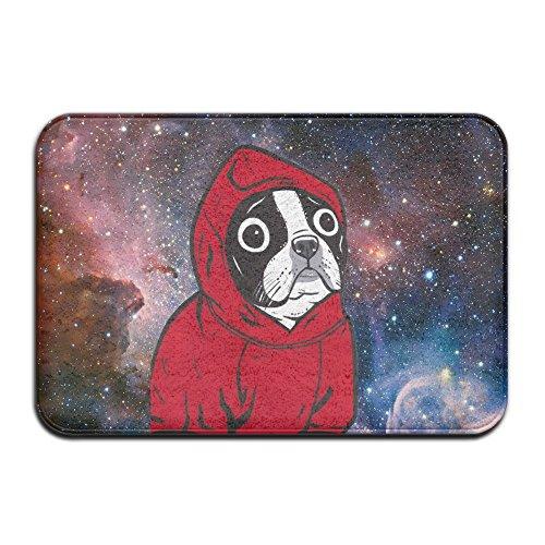 (BaLin Custom Boston Terrier Hoodie Doormat - Floor Mat Indoor Entrance Rug Decor Mat, 23.6