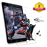 [2 Pack] ZoneFoker iPad 6th 5th Generation Screen Protector - [Lifetime Replacement][Anti-Scratch][Easy Installation][Bubble Free] Tempered Glass for iPad 9.7 Inch 2018 2017