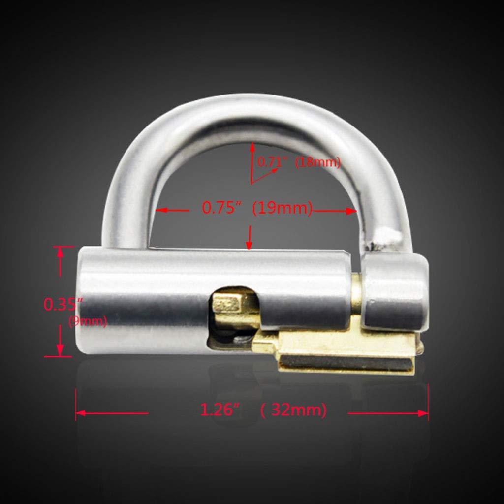 Q-HL Jaulas de de de pene Cinturones de castidad Chastity Cage, Titanium Puncture y Chastity Lock Accessories Productos para adultos (Color : 40mm) 7f6df3