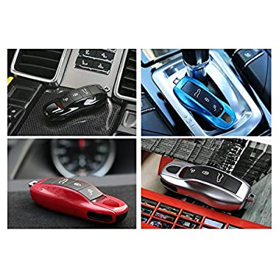 3PCS Remote Key Covers Compatible with Porsche, Jaronx Glossy Black Key Fob Shell Cover Painted Keyless Entry Skin Protectors (Compatible with:Porsche Boxster Turbo Cayenne Panamera Macan Cayman 911): Automotive