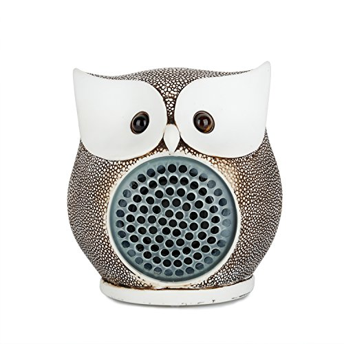 LENMO Owl Bluetooth Speaker Ultra Portable Wired Bluetooth Speaker 4.0 Superior Bass Hand-made Polymer Resin in Retro Style for Desktop PC/Laptop Note…