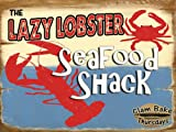 Lazy Lobster Metal Sign: Kitchen Decor Wall Accent