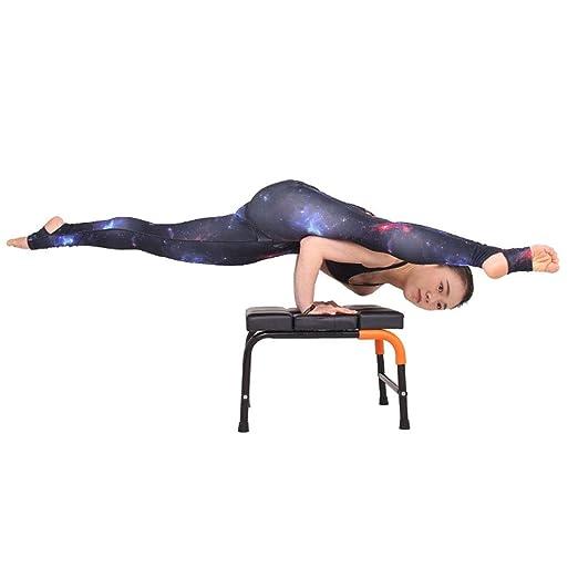 Niuniu Yoga Postura sobre La Cabeza del Banco, De Sentarse Y ...