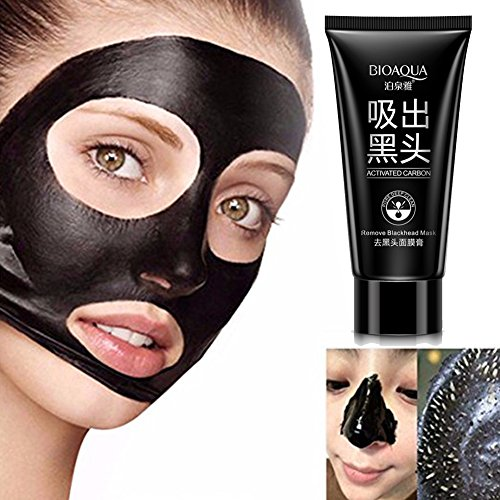 Blackhead Remover Deep Cleansing Purifying Peel Off Acne Tearing Resist Oily Skin Strawberry Nose Black Mud Face Mask