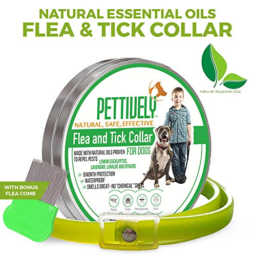 Pettively Pest Control chemical free flea collar for canines