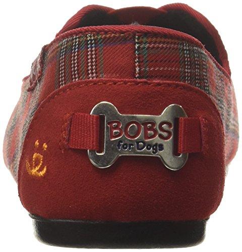 Skechers Bobs Womens Bobs Plysj-luske Flat Rød
