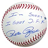 "Pete Rose Autographed Official MLB Baseball Cincinnati Reds ""I'm Sorry I Shot JFK"" PSA/DNA Stock #22184"
