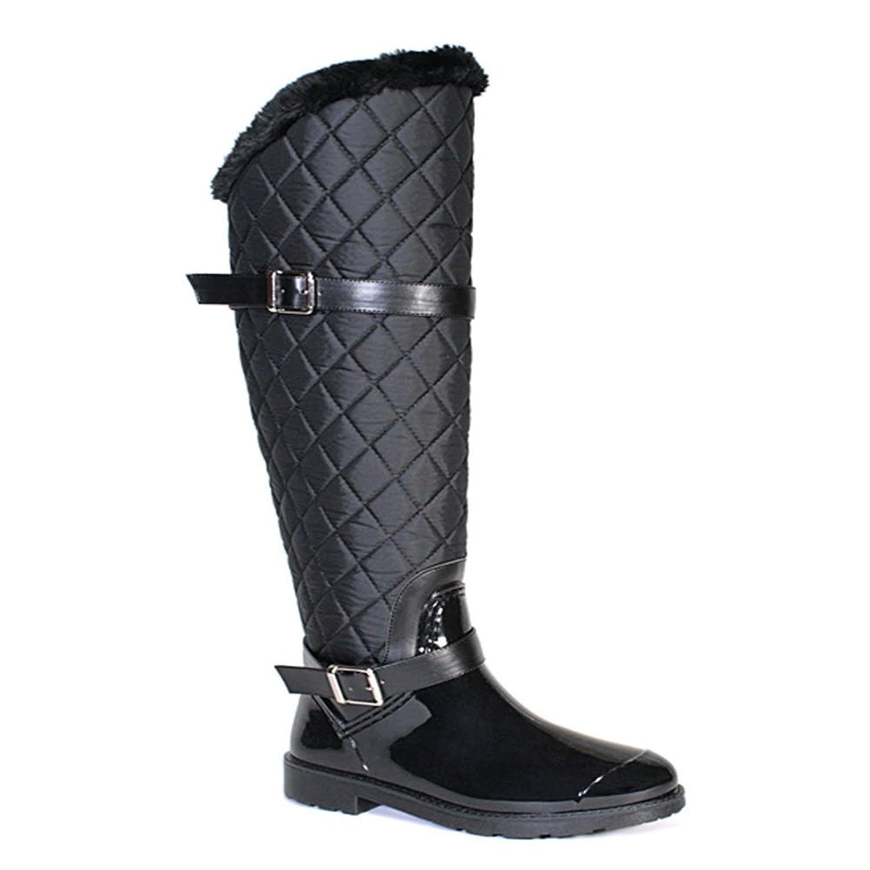 Bamboo Women's Stormy-01 Over Knee Winter Rain Rubber Waterproof Knee High Boot