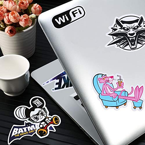 Faminess Car Sticker Waterproof Sticker (100 Pieces) Laptop Vinyl Sticker for Water Bottle, Snowboard, Luggage, Bike, Motorcycle, Phone, MacBook, DIY Patches Stickers