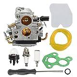 Hilom Carburetor with Air Filter Fuel Line Filter for Husqvarna 235 235E 236 236E 240 240E Chainsaw Jonsered CS2234 CS2238 CS2234S CS2238S replaces 574719402 545072601 Carb