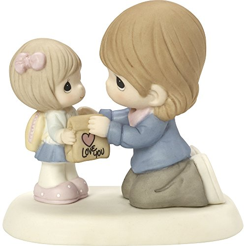 Precious Moments,  My Heart Goes With You Always, Bisque Porcelain Figurine, 164006