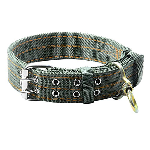 Classic Army Reinforced (Jocestyle Pet Dog Classic Metal Buckle Collar Matching Leash Harness Available Separately for Large Dog)