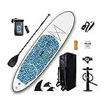 ZDW-Stand-up-paddle-Sup-linsieme-del-bordo-adatto-tutte-le-abilita-Ideale-Principianti-gonfiabile-Paddleboard-Kitcolore-del-fiore-con-pompa-Zaino-Guinzaglio