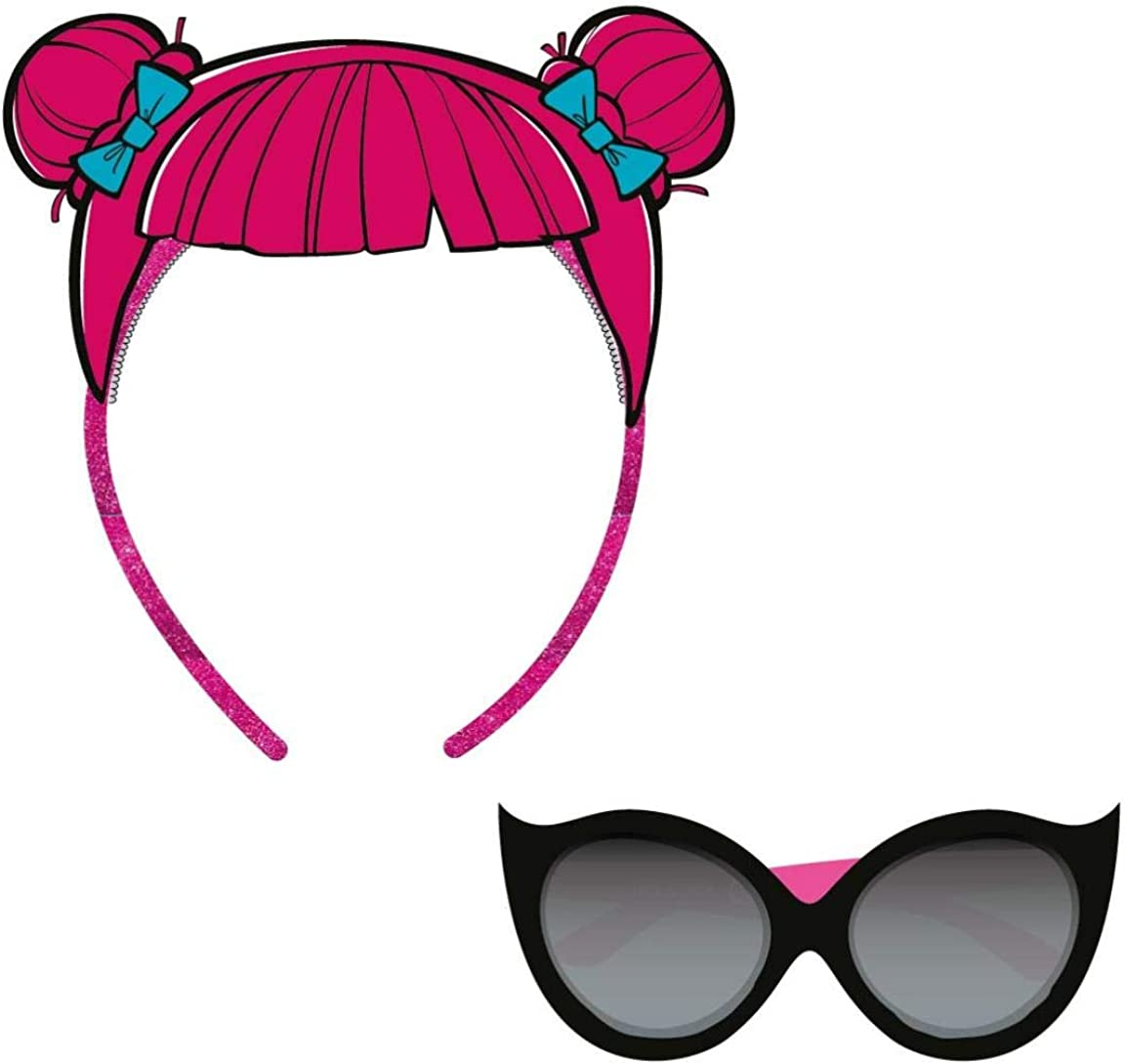 Artesania Cerda Girls/' Gafas De Sol Blister LOL Sunglasses Black 40.0 Negro