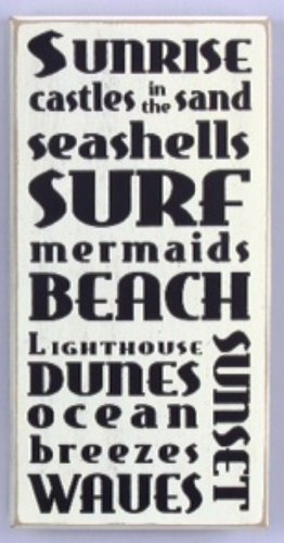 Young's 'Beach' Wood Word Sign, 12-Inch
