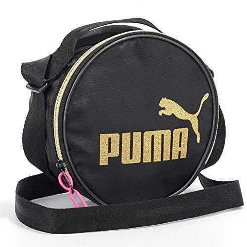 Black gold Logo Oro Cremallera Bandolera Mujer Funda Cat Puma Redonda Core wx6vzUfqxg