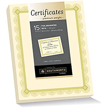 amazoncom certificate of recognition large 30 pack