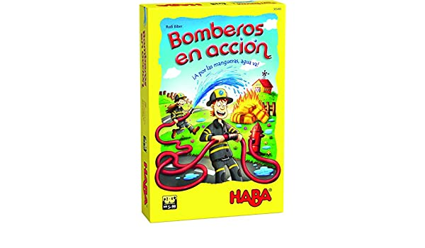 Habermass H305483 Bomberos en acci/ón-ESP Juego de Mesa Haba