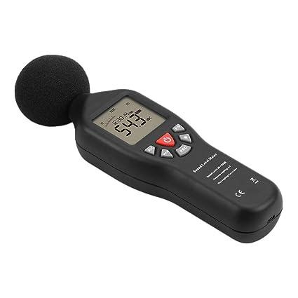 Sensor de decibelios de alta precisión TL-200 Medidor de decibeles de nivel de sonido digital 30-130 dB con luz de fondo Medición de ruido de datos 32000: ...