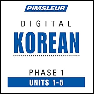 Korean Phase 1, Unit 01-05 Audiobook