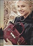 Magazine PRINT AD With Chloe Grace Moretz For 2016 Coach Red Handbags PRINT AD