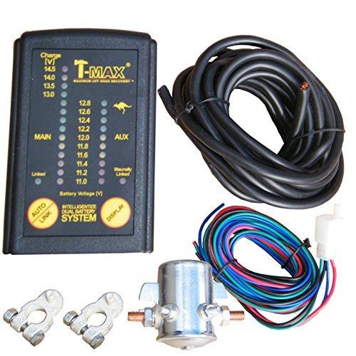 T-MAX Split Charge Relay Dual Battery Charging System + Digital Status Monitor