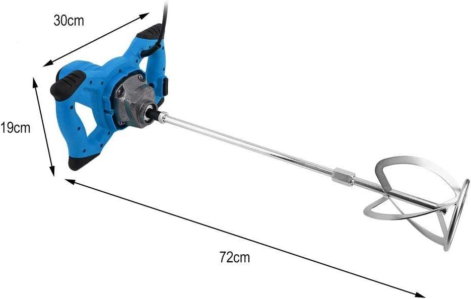 Mescolatore manuale per cemento 72 cm blu Blackpoolal 1200 W 930 r//min