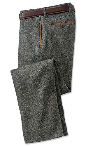 Orvis County Donegal Tweed Pants, Charcoal, Cuffed, 42W X 32L
