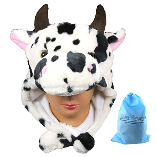 Silver Fever Plush Soft Animal Beanie Hat (Spotted - Beanie Cow