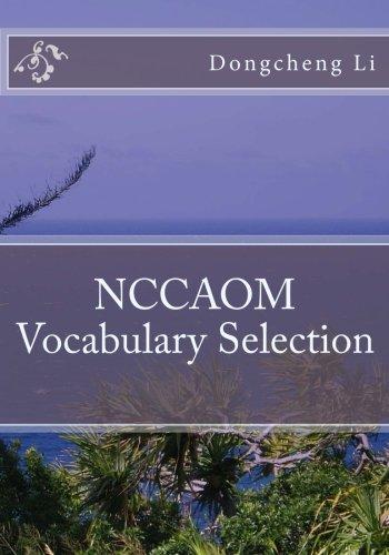 NCCAOM  Vocabulary Selection