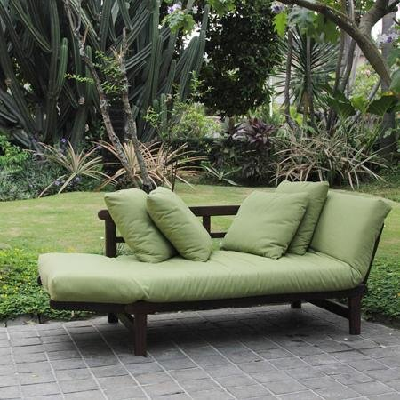 Amazon Com Delahey Studio Converting Outdoor Sofa Brown With