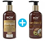 WOW Hair Strengthening Shampoo + WOW Hair Conditioner Set (10fl.oz each) - No Sulfates, Parabens or Silicones (1 Pack Combo)