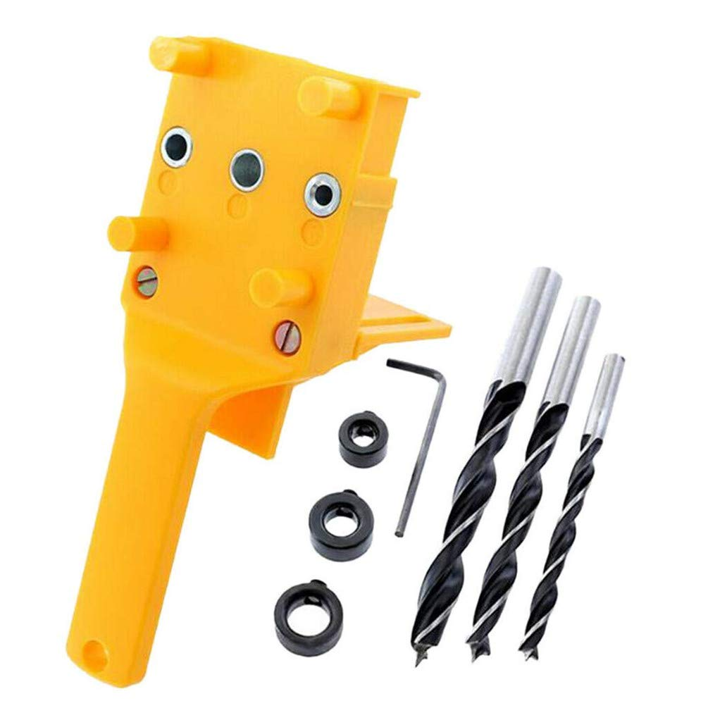 8 Pieces Handheld ABS Hole Puncher for Floor Punching Woodworking Tools for Home Woodworking Straight Hole Punch