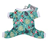 CuteBone Dog Pajamas Hot Air Balloon Christmas Dog Jumpsuit Pet Clothes Pajamas Pjs For Small Dogs P15 S