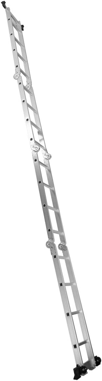 150 KG /Échelons 4 x 4 Int/érieur et Ext/érieur Charge Max avec 2 Montants GOPLUS 6 en 1 /Échelle Pliante Multifonction Extensible 4,7 M en Aluminium 2 Roues Amovibles