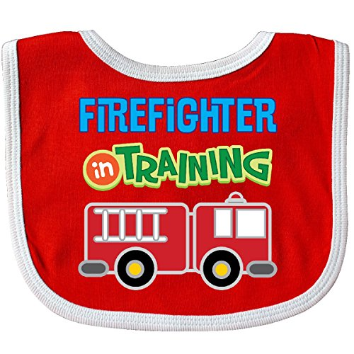 Inktastic - Future Firefighter Kids Fireman Baby Bib Red/White - Firefighter Baby Bib Future
