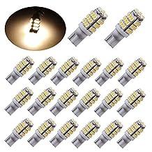 PESIC 20x T10 921 192 Wedge RV Trailer 42-SMD LED Warm White Interior Light Bulbs