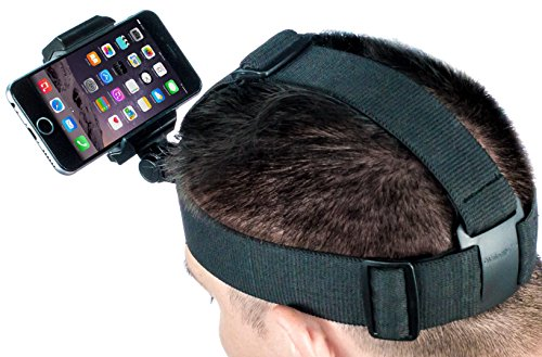 Phone Head Mount GoPro Strap for POV Video Fits All Smartphones iPhone, Samsung Galaxy, & Note - Edge Beanie