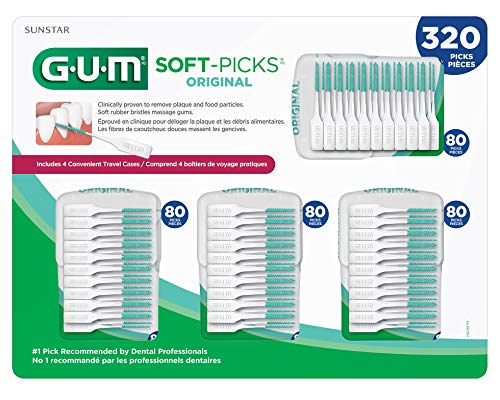 GUM Soft-Picks Original Dental Picks, 320 Count -