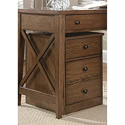 "Liberty Furniture 382-HO146 Hearthstone Home Office Mobile File Cabinet, 16"" x 21"" x 23"", Rustic Oak"