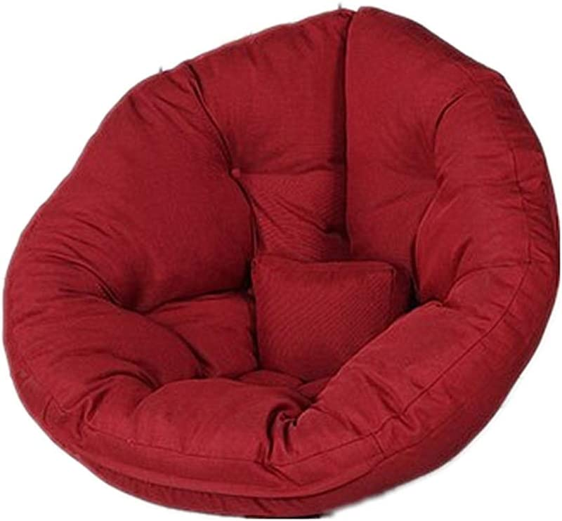 Fauteuil pouf grand en mousse visco/élastique fauteuil convertible se plie du pouf au lit-Vin rouge Grand sac canap/é avec housse en coton doux et en lin de premi/ère qualit/é S