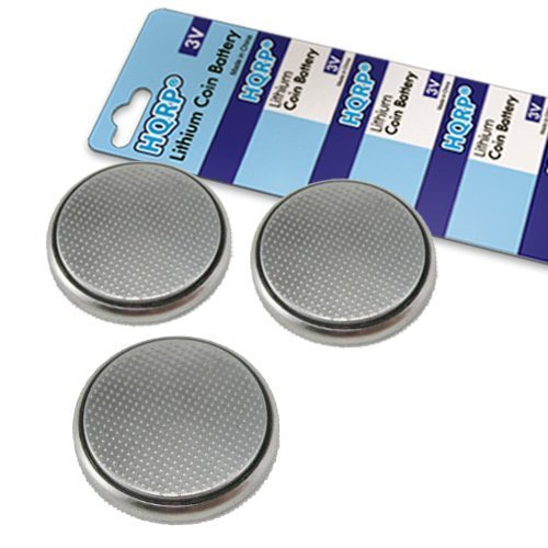 Polar Wearlink Coded Transmitter - HQRP 3 Pack Lithium Coin Battery compatible with Polar WearLink Coded TRANSMITTER 31 plus Coaster