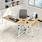 Computer Desk FurnitureR Modern L-Shaped Desk Corner Computer Desk PC Latop Study Table Workstation Wood Style Large Gaming Desk for Home Office Oak