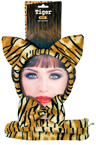 Costumes Kit Tiger (Forum Novelties Women's Tiger Accessory Kit, Multi, One)