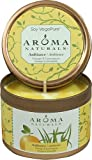 Soy Vegepure, Travel Candle, Ambiance, Orange & Lemongrass, 2.8 oz Candle by Aroma Naturals