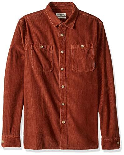 (Billabong Men's Wave Washed Cord Shirt, Hazel, XL)