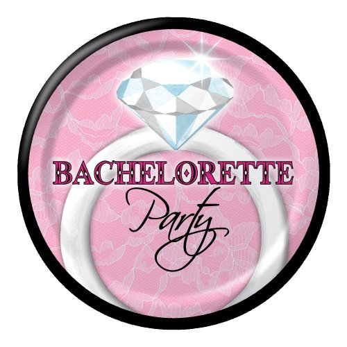 Creative Converting Bachelorette Party 8 Count Paper Lunch Plates, Sassy and Sweet