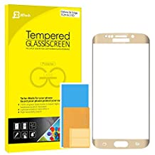 """S6 Edge Screen Protector, JETech Full Screen 5.1"""" Premium Tempered Glass Screen Protector Film for Samsung Galaxy S6 Edge (Gold) - 0892"""