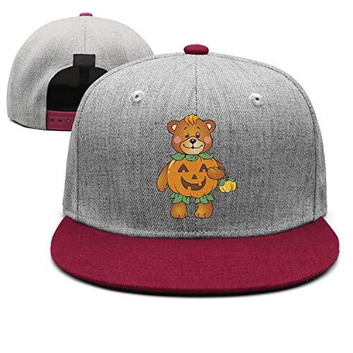 Halloween Pumpkin Bear Unisex Stylish Hip hop Trucker Cap Low Profile Snapback hat Sport Cap One Size ()