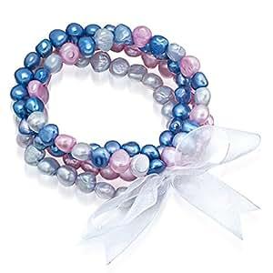 Valero Pearls - Juego de cuatro pulseras - Perlas de agua dulce Organza - Pearl Jewellery - 60923017